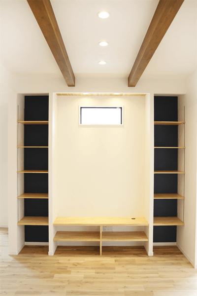 テレビ台一体型収納棚1