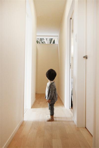 廊下+光+窓